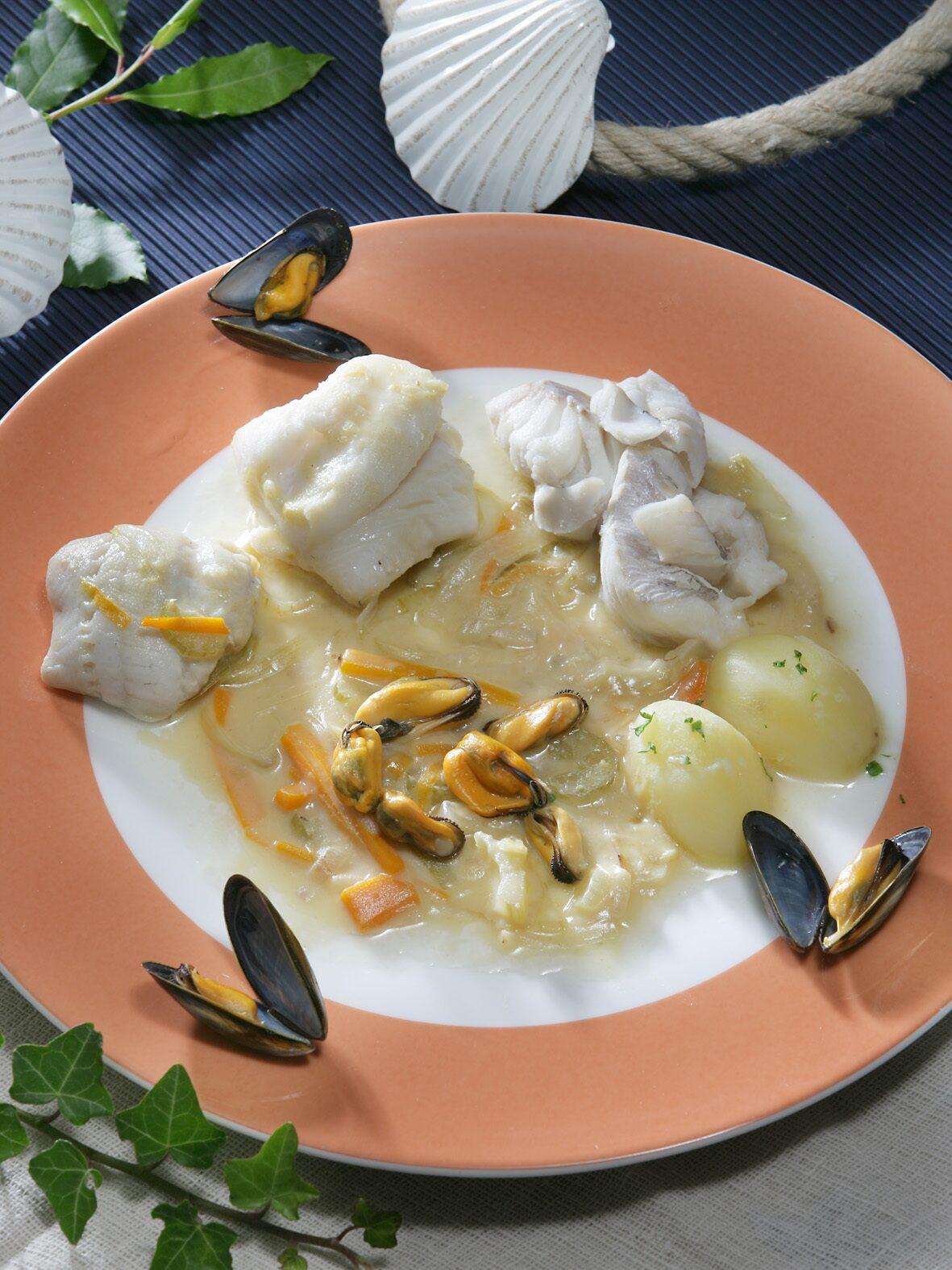 la gainée plat typique de boulogne sur mer sur la côte d'opale