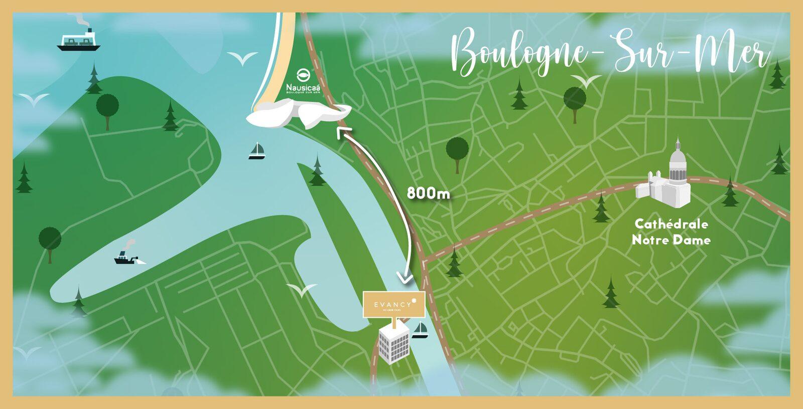 Hôtel près de Nausicaa à Boulogne Sur Mer - Hôtel Evancy Boulogne Sur Mer