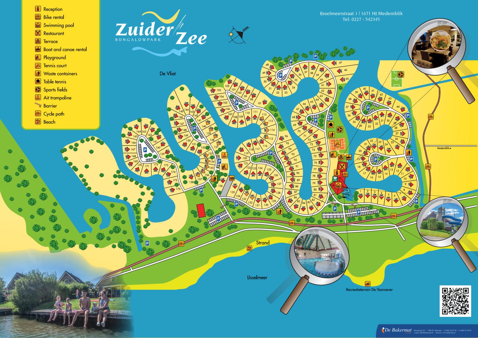 Map Bungalow Park Zuiderzee