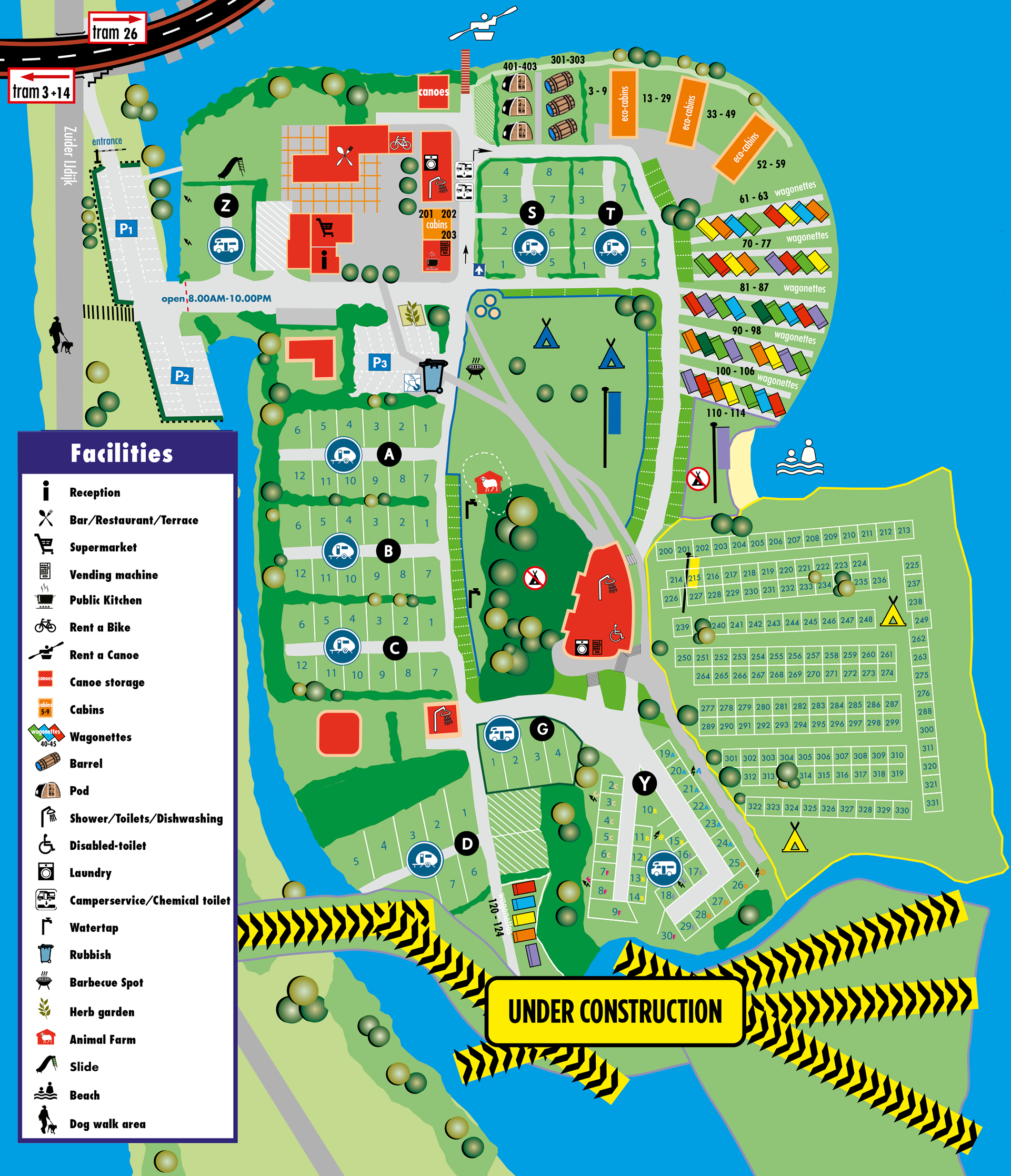 map camping zeeburg amsterdam