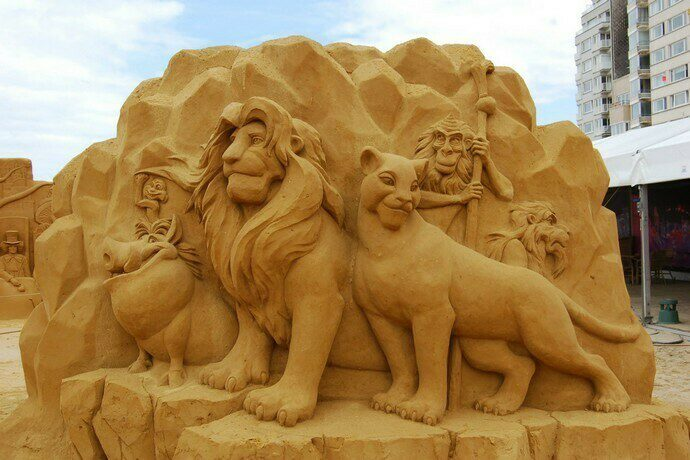 Sand sculpture festival Ostend